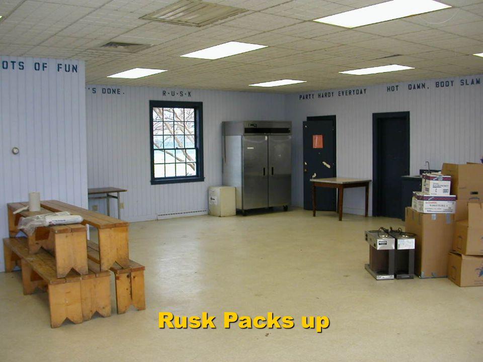 Rusk Packs up