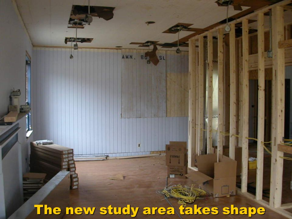 The new study area takes shape