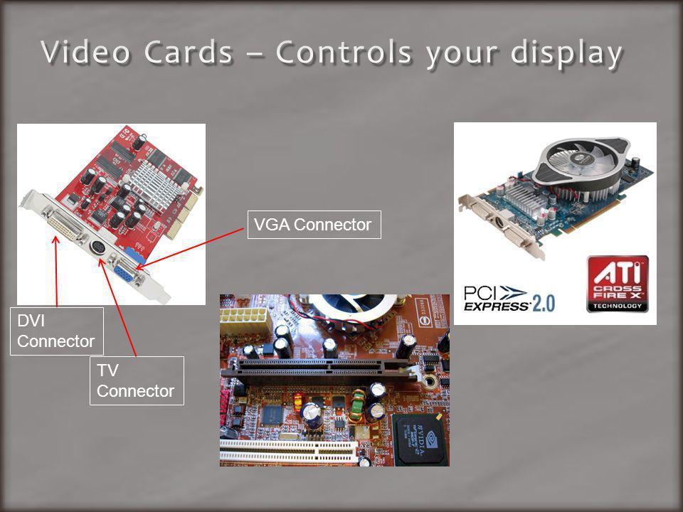 DVI Connector VGA Connector TV Connector