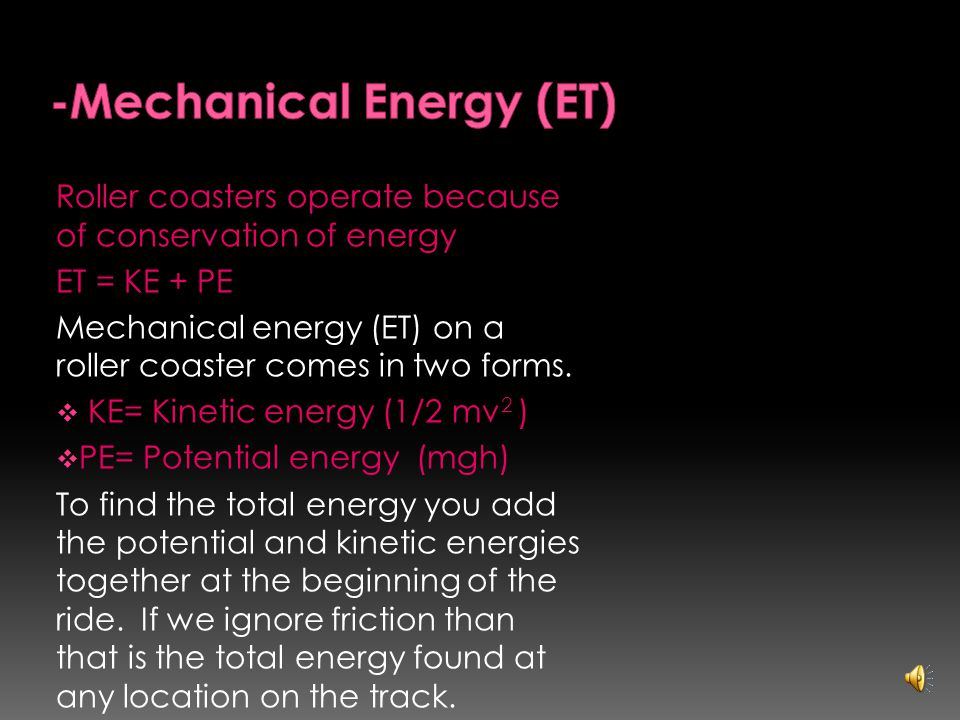 Potential Energy is the same as stored energy. It is the energy of position.