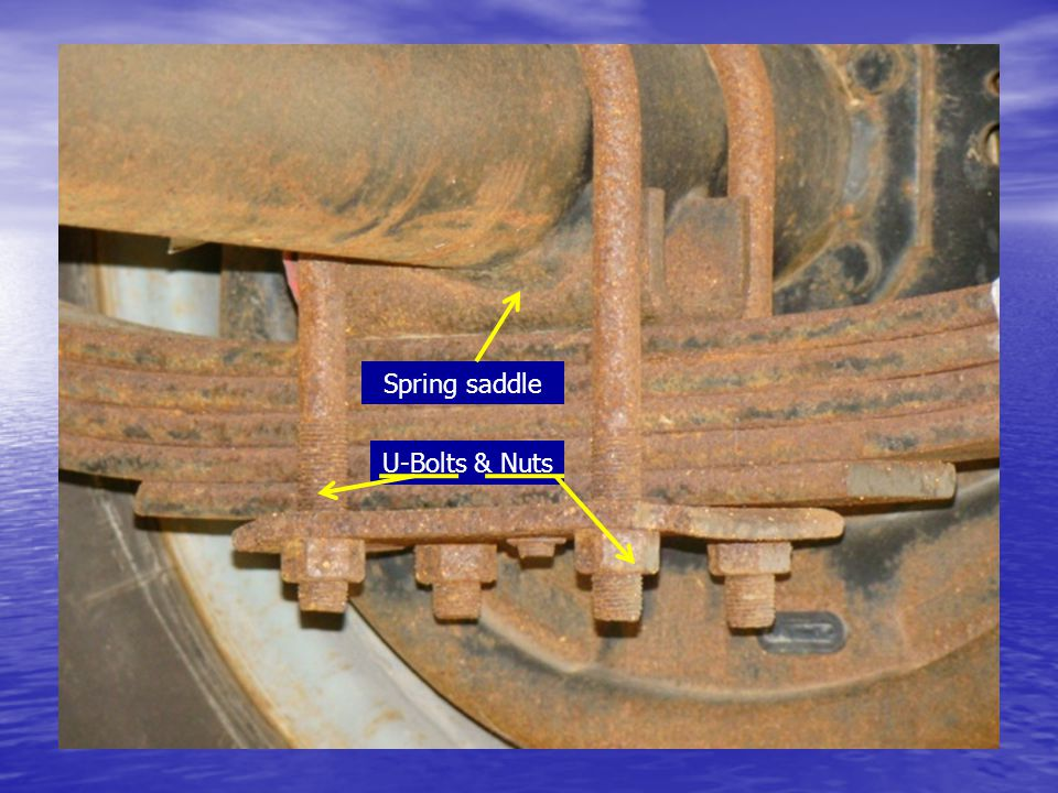 Spring saddle U-Bolts & Nuts