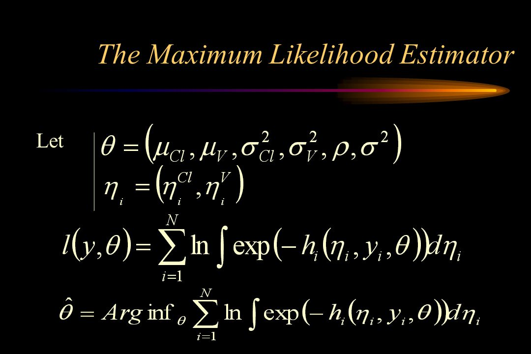 The Maximum Likelihood Estimator Let