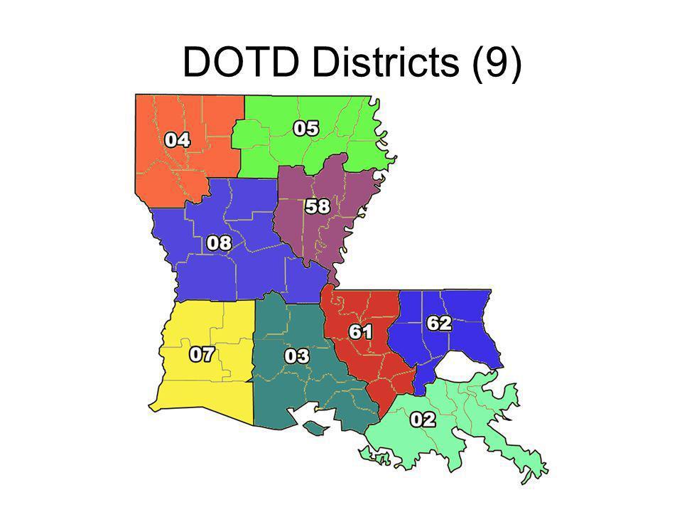 DOTD Districts (9)