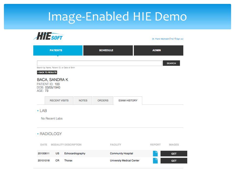 Image-Enabled HIE Demo