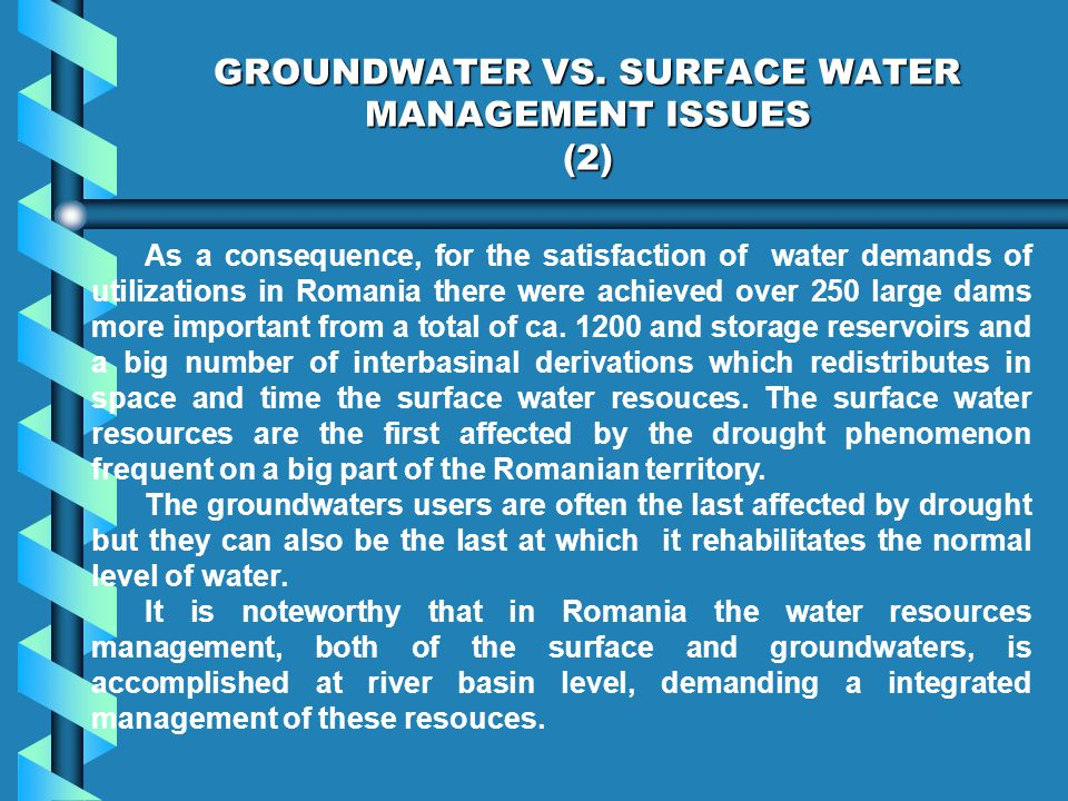 GROUNDWATER VS.