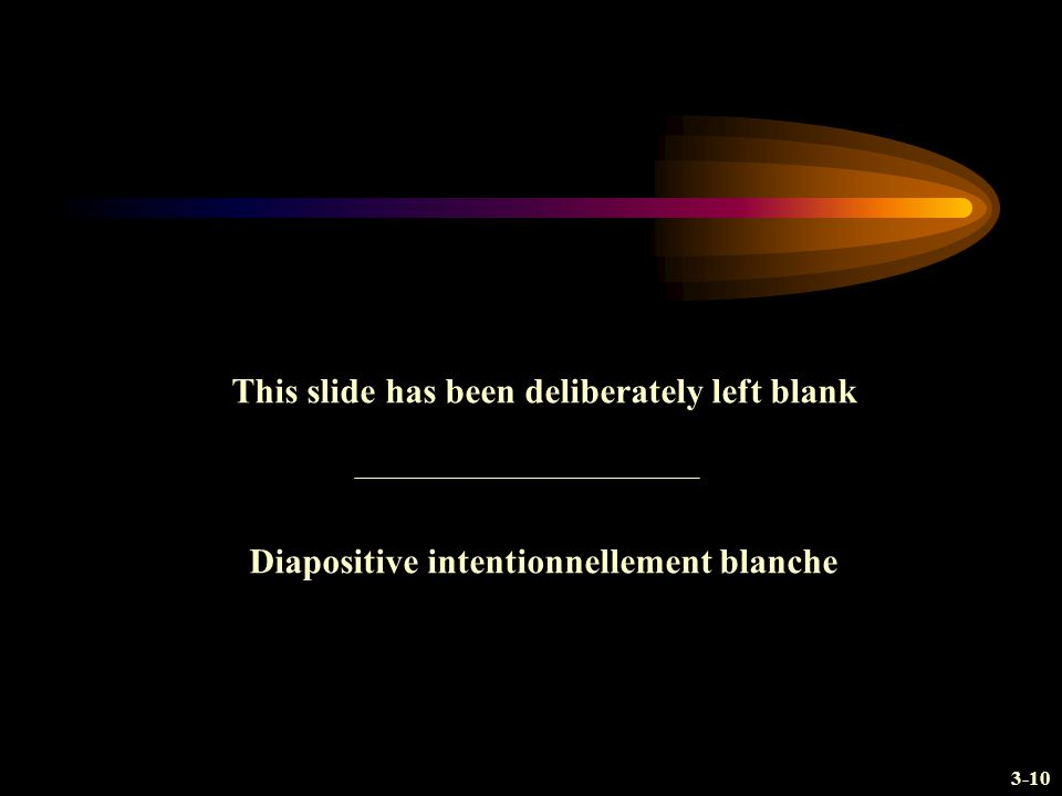3-10 This slide has been deliberately left blank Diapositive intentionnellement blanche