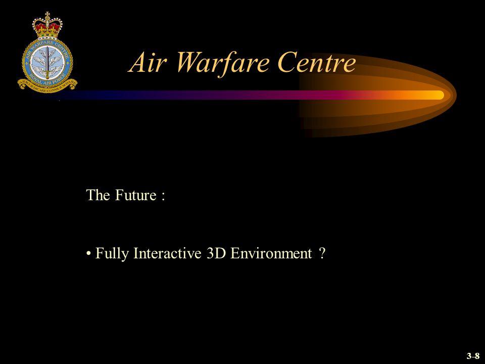 Air Warfare Centre The Future : Fully Interactive 3D Environment ? 3-8