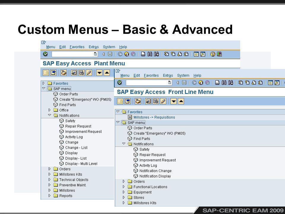 Custom Menus – Basic & Advanced