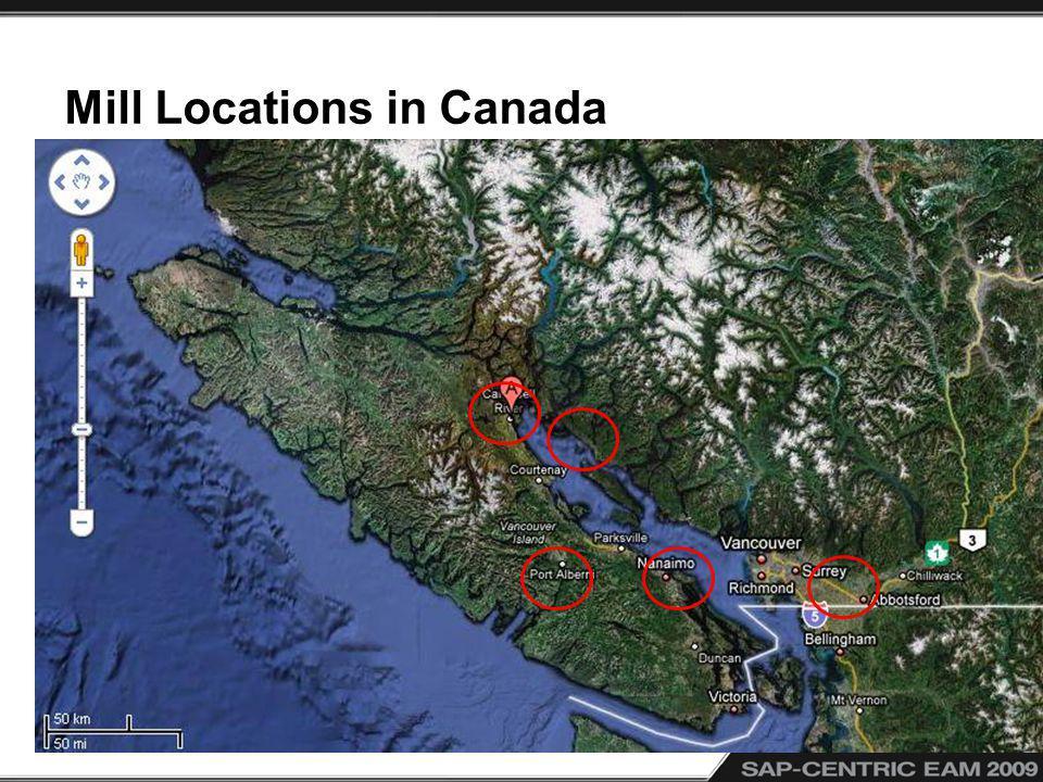 Mill Locations in Canada