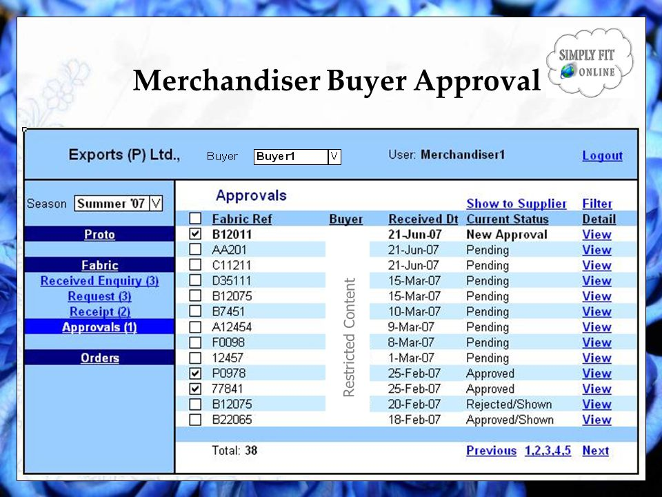 Merchandiser Buyer Approval Restricted Content