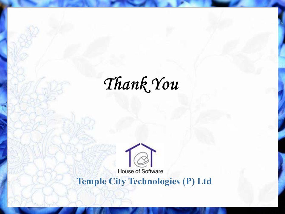 Temple City Technologies (P) Ltd Thank You