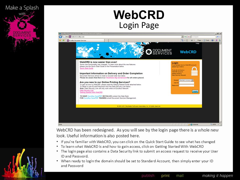 WebCRD WebCRD has been redesigned. As you will see by the login page there is a whole new look. Useful information is also posted here. Login Page If