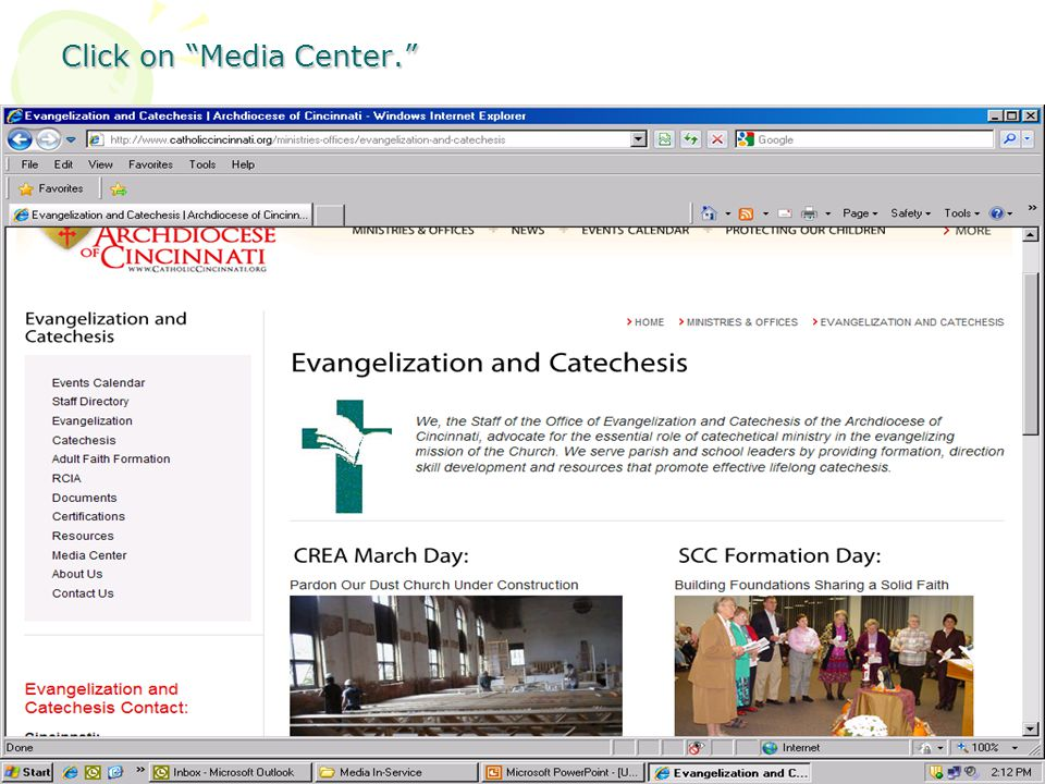 Click on Media Center.