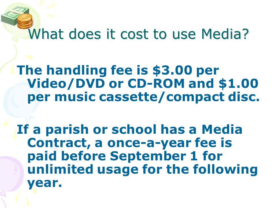 What does it cost to use Media.