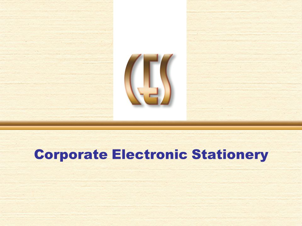 Corporate Electronic Stationery