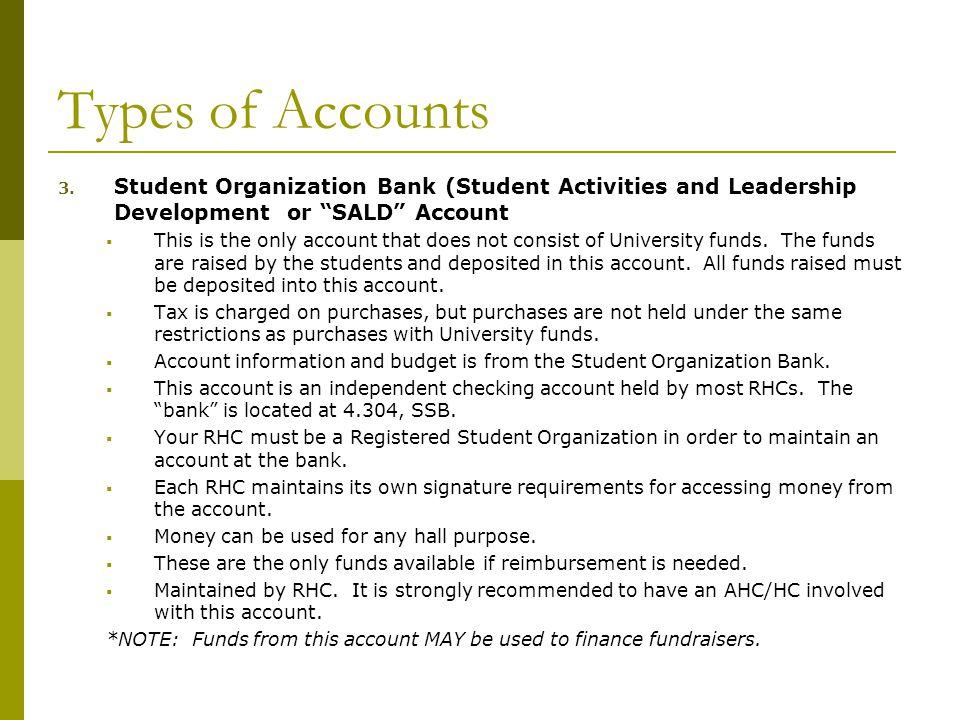 Types of Accounts 4.