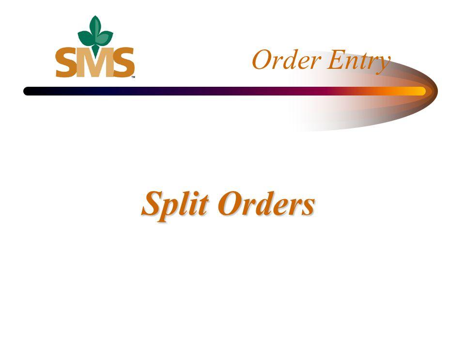Split Orders
