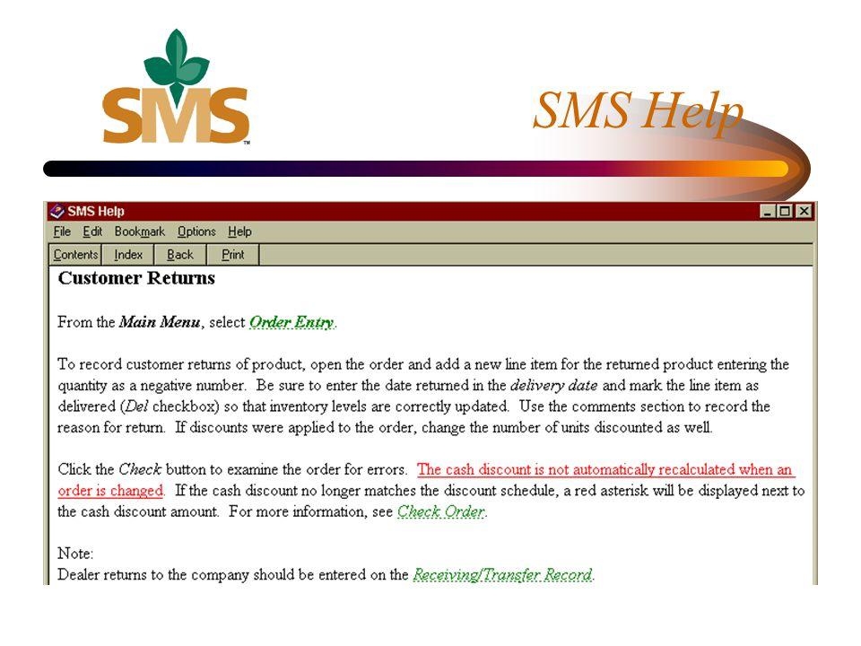 SMS Help