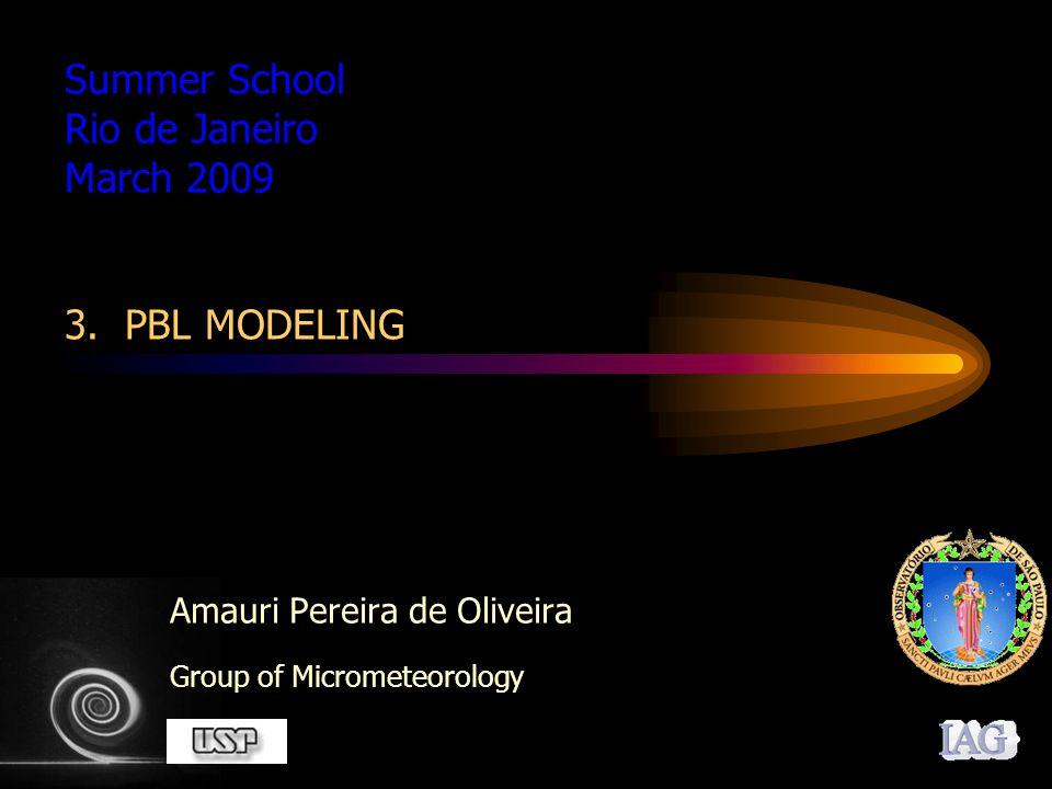 22 Prognostic RANS model Mixing Layer Model (1/2 Order Closure) First Order Closure Model Second Order Closure Model 1.5 Order Closure Model