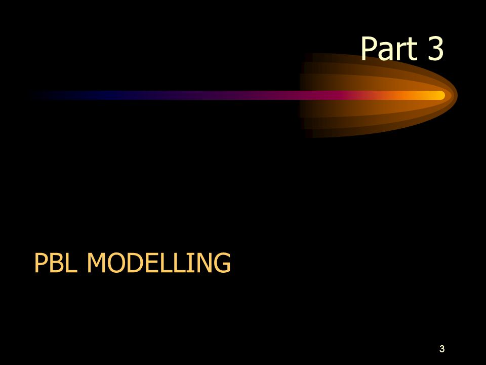 3 Part 3 PBL MODELLING