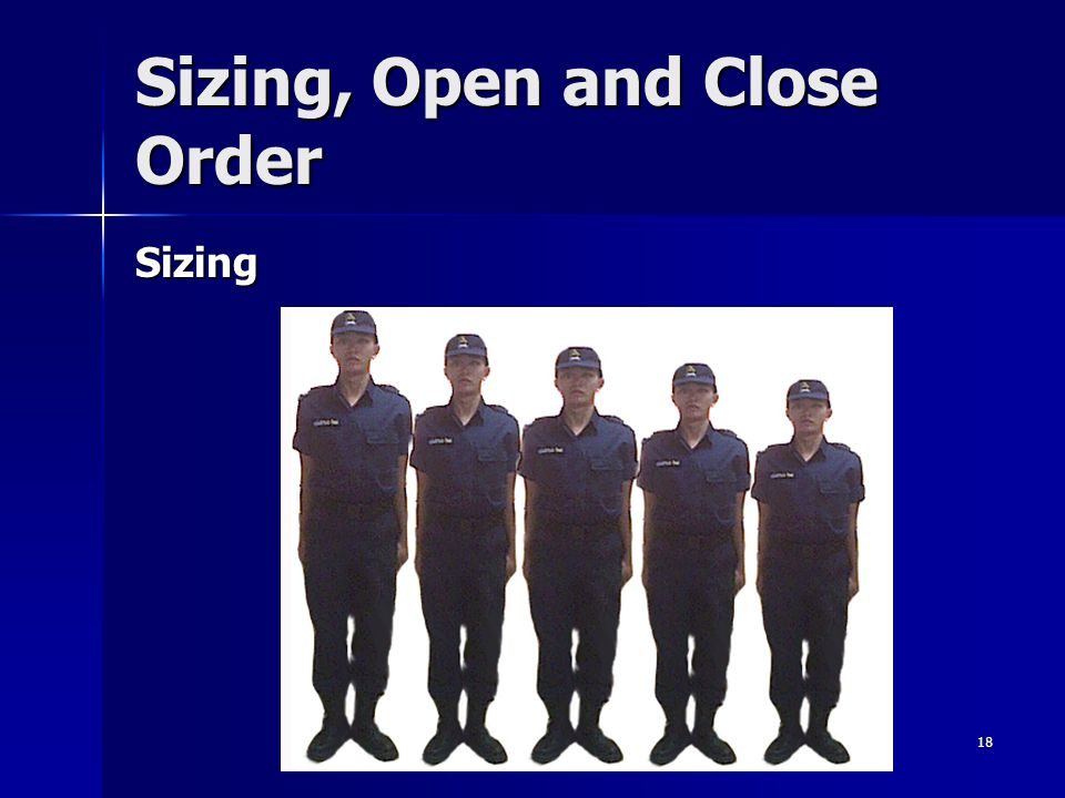 18 Sizing, Open and Close Order Sizing