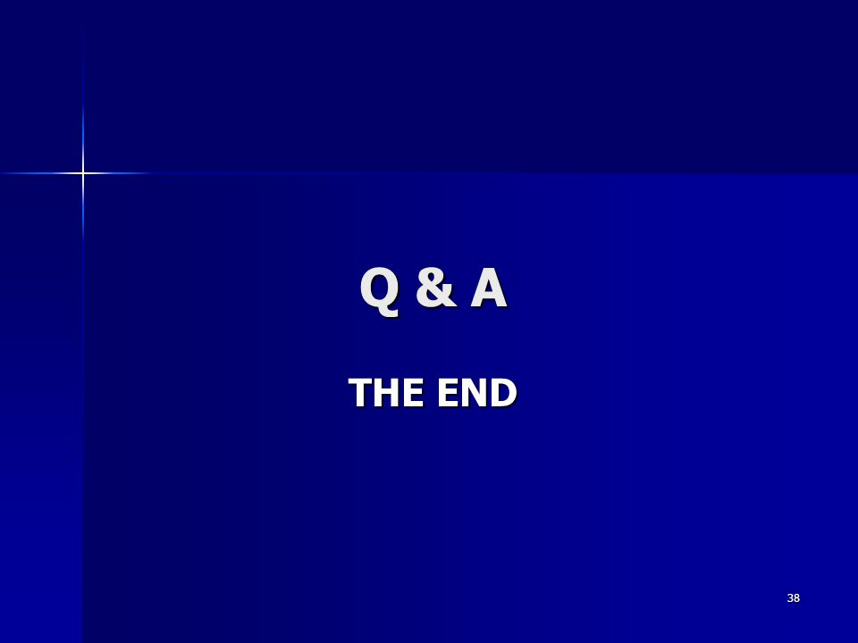 38 Q & A THE END