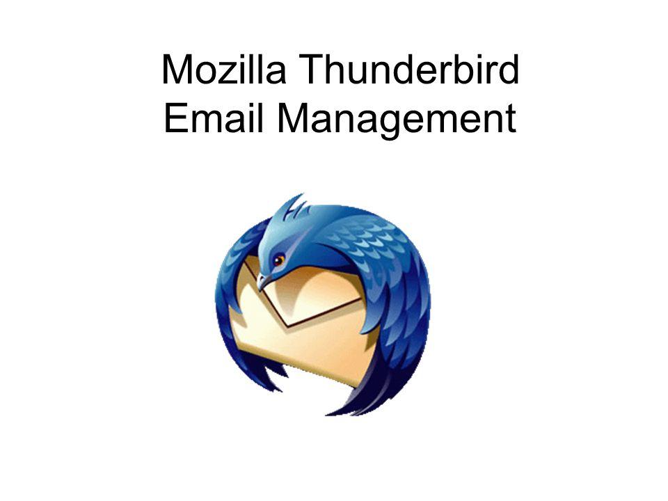 Mozilla Thunderbird Email Management