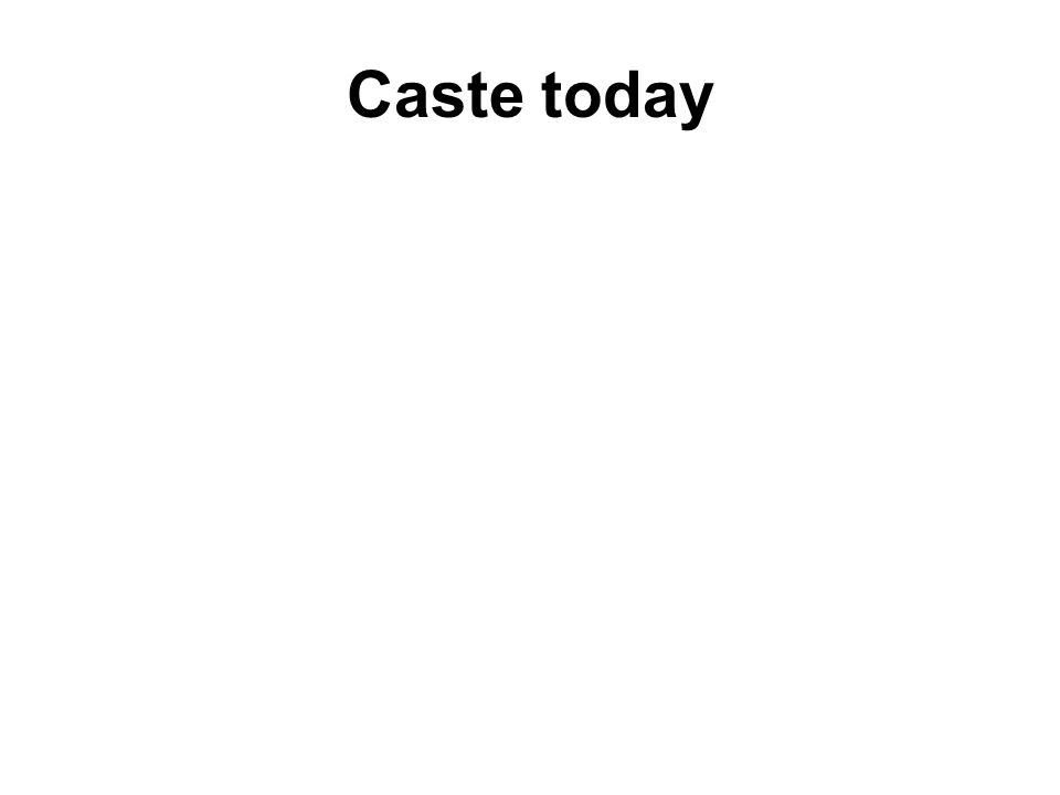 Caste today The Caste System has been illegal in India for more than fifty years, but it continues to shape peoples lives.
