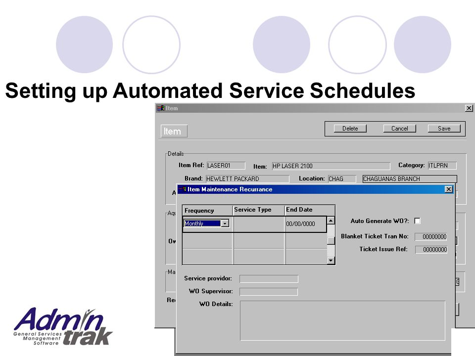 Setting up Automated Service Schedules
