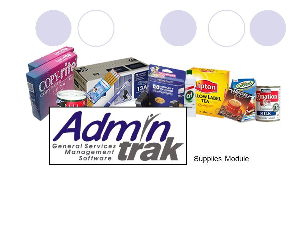 Supplies Module