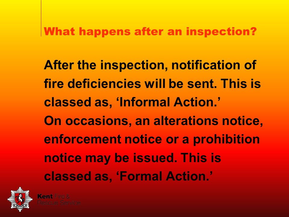 What happens after an inspection.