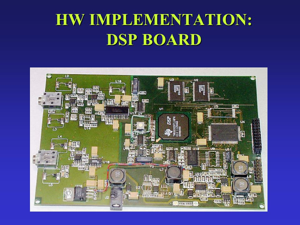 Realized in C.N.R. Labs, Institute of Clinical Physiology, Pisa HW IMPLEMENTATION: DSP BOARD
