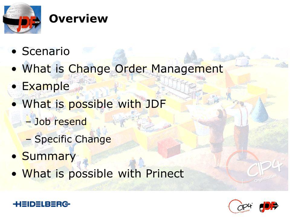 Specific Change UpdateJDF Complex Changes to the running Job possible.
