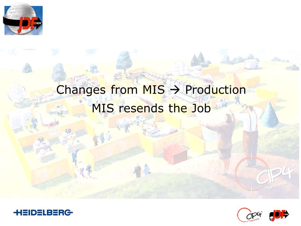Changes from MIS Production MIS resends the Job