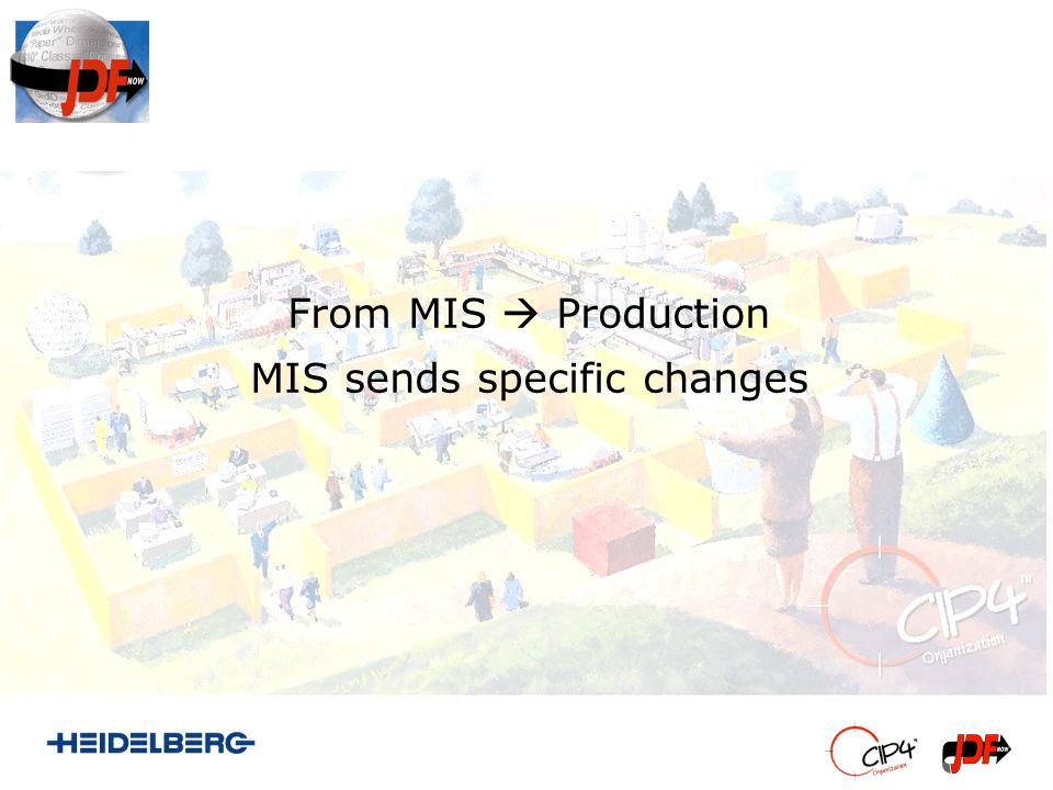 From MIS Production MIS sends specific changes