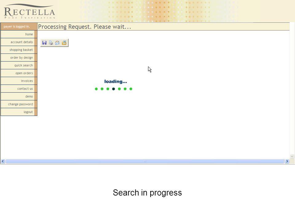 Search in progress