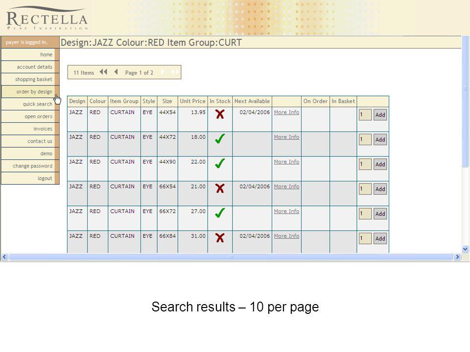 Search results – 10 per page