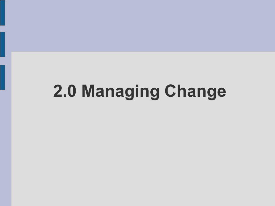 2.0 Managing Change