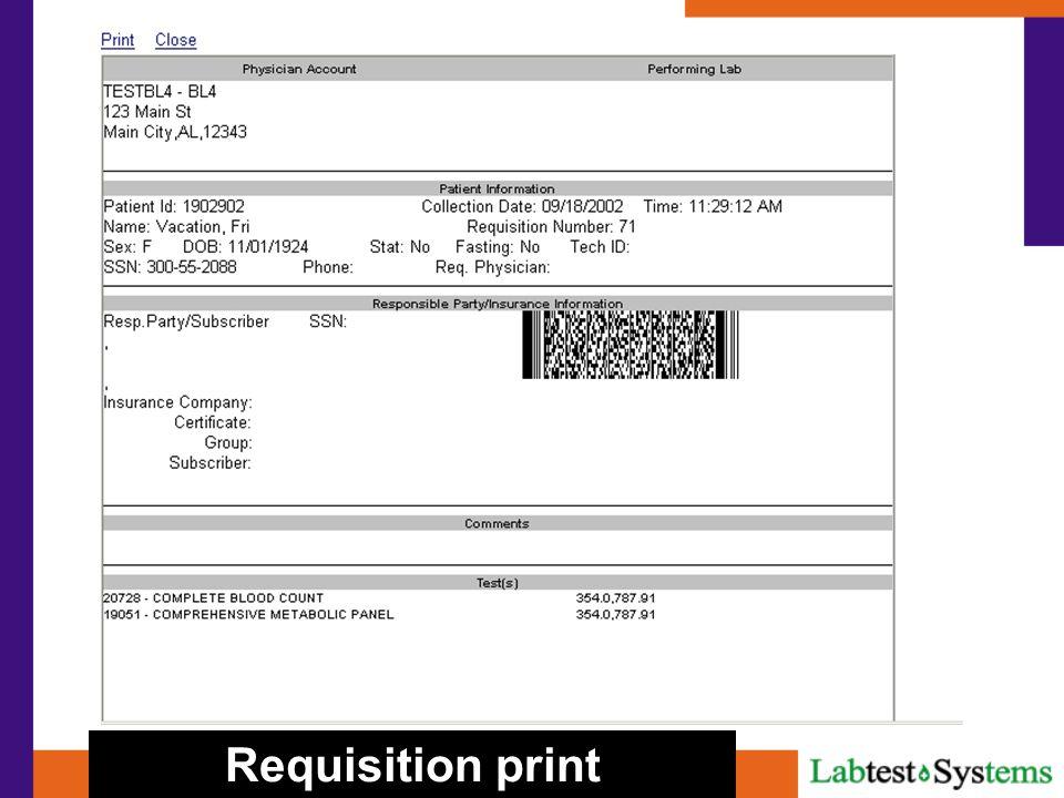 Requisition print