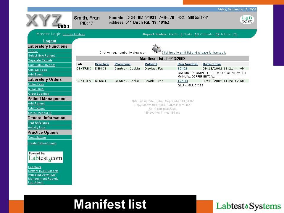 Manifest list