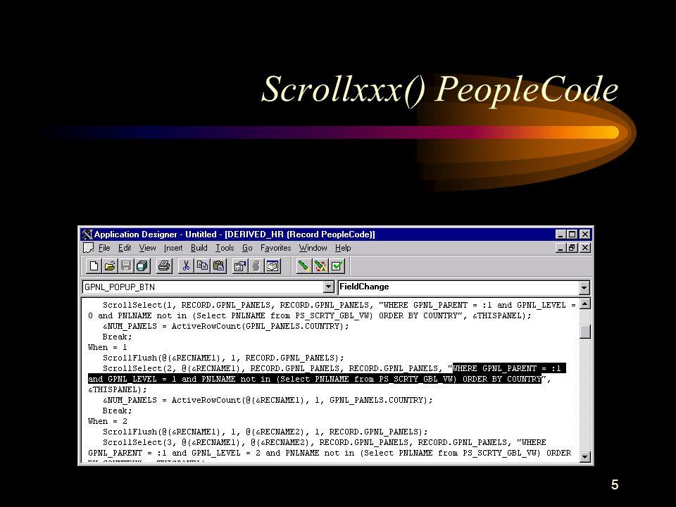 5 Scrollxxx() PeopleCode