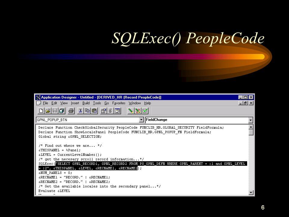 6 SQLExec() PeopleCode