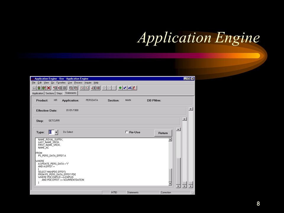 8 Application Engine