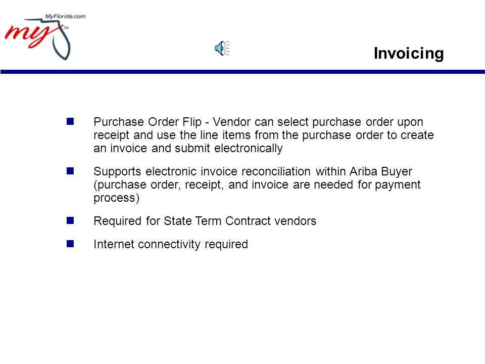 Invoicing (The PO flip)