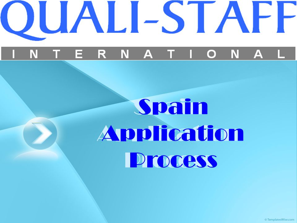 Spain Application Process