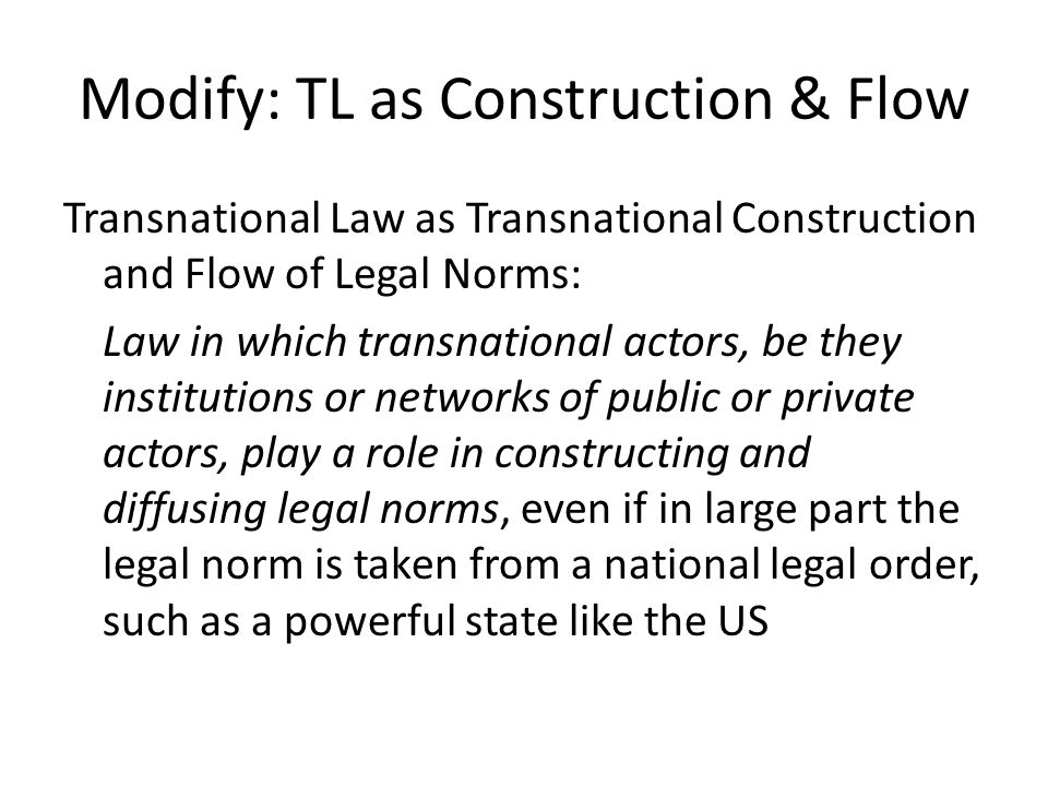 Socio-legal Critique of Koh Failure to assess: (i) Production of transnational law (ii) Dimensions of change (iii) Conditions, mechanisms and factors explaining variation in such change: (iv) Never beams the searchlight of social science on processes of adoption; transplantation; adaptation; translation; bricolage; appropriation; rejection of TL