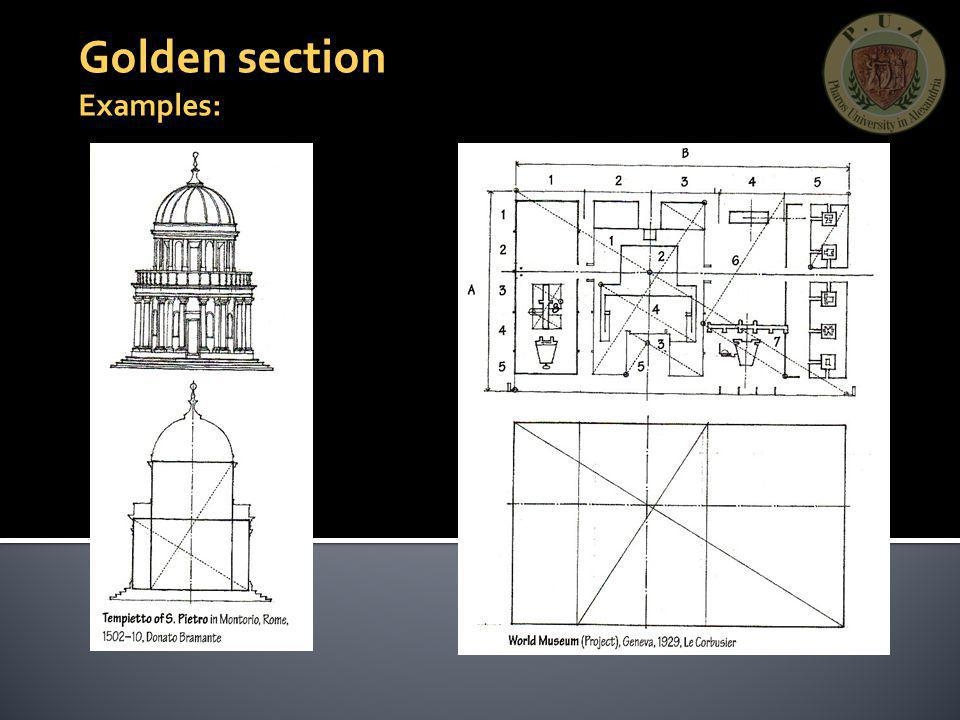 Golden section Examples: