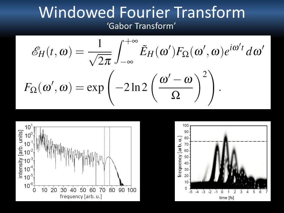 Windowed Fourier Transform frequency [arb. u.] Gabor Transform