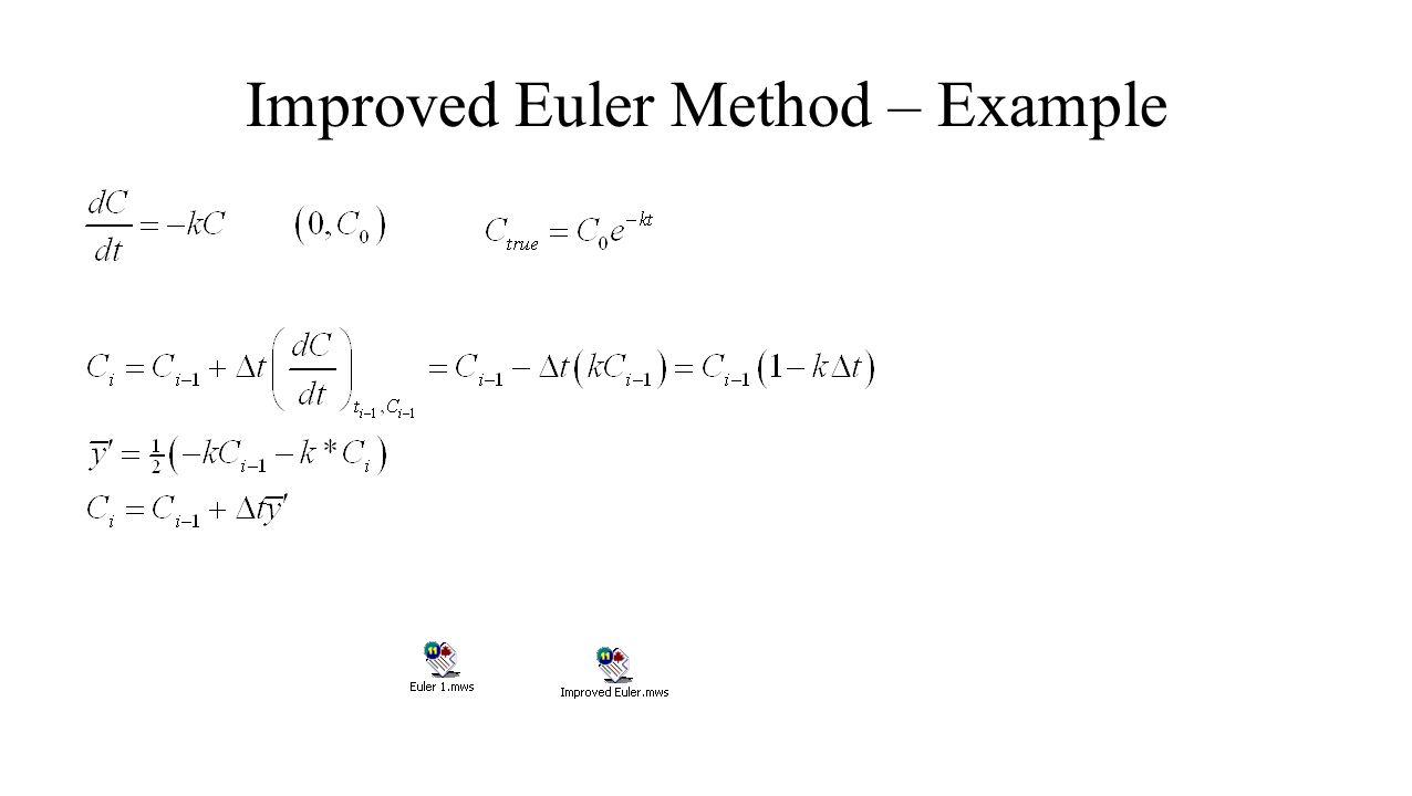 Improved Euler Method – Example