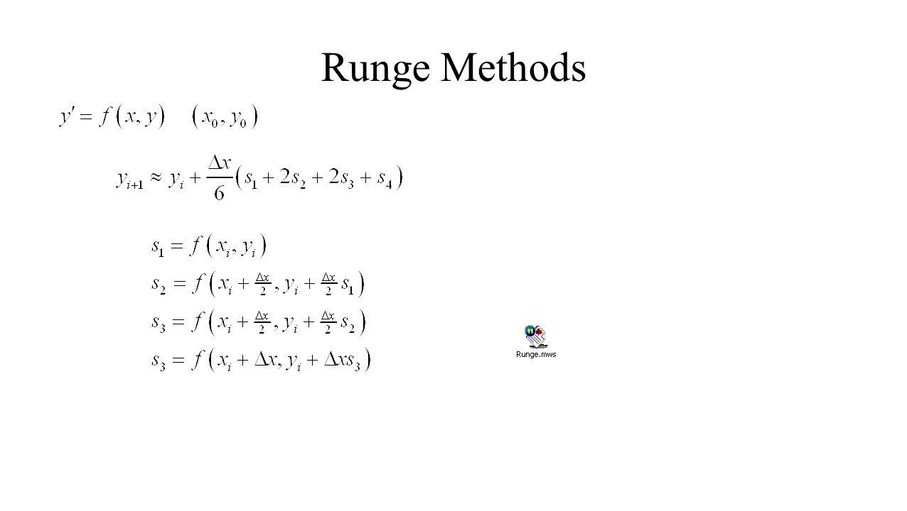 Runge Methods